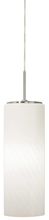 Stone Lighting PD186OPPNMB10M - Pendant Gauss Opal Polished Nickel Medium Base Incandescent 100W Monopoint Canopy