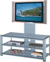 "Lite Source Inc. LSH-5612SILV - 3-tier Tv Stand, Silver/clear Glass, 47.5""lx19.5""wx52""h"