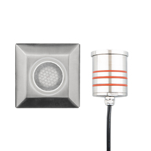 WAC US 2052-30SS - 2in Inground LED 12V Square Indicator Light with Honeycomb Louver in Stainless Steel