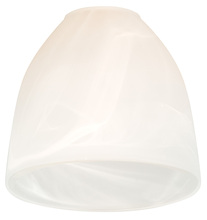 "Craftmade 110 - 2 1/4"" Fan Glass, Cone Shaped in Alabaster Swirl"