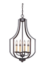 Craftmade 40034-OBG - Hayden 4 Light Foyer in Oil Bronze Gilded