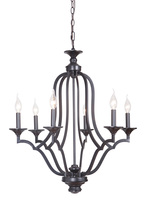 Craftmade 40226-MBK - Gabriella 6 Light Chandelier in Matte Black
