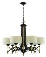 Craftmade 46327-ANGBZ - Colonial 7 Light Chandelier in Antique Gold and Bronze