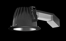 "RAB Lighting RDLED6R26L-50Y-S-B - REMODELER 6"" ROUND 26W 3000K DIM LUTRON 50 DEGREES SPECULAR CONE BLACK RING"