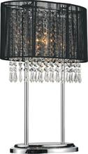 Crystal World 5004T13C(B) - 1 Light Chrome Table Lamp