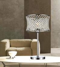 Crystal World 5300T12C - 1 Light Chrome Table Lamp