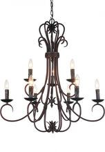 Crystal World 9817P16-6-121 - 6 Light Oil Rubbed Brown Up Chandelier