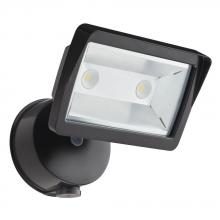 Acuity Brands 217AVH - Outdoor Bronze 4000K LED Wall-Mount Dusk to Dawn Mini Single-Head Floodlight