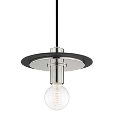 Hudson Valley H137701S-PN/BK - 1 Light Small Pendant