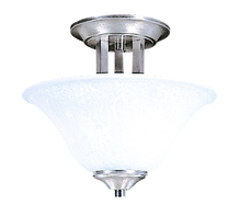 Framburg 9300 BS/PN - 2-Light Brushed Stainless Bellevue Flush / Semi-Flush Mount