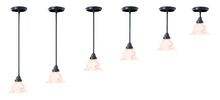 Framburg 9996 MBLACK/WH - 1-Light Matte Black Black Forest Pendant