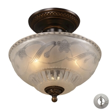 ELK Lighting 08098-AGB-LA - Restoration Flushes 3 Light Semi Flush In Antiqu
