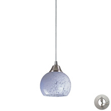 ELK Lighting 101-1SW-LA - Mela 1 Light Pendant in Satin Nickel And Snow Wh