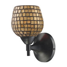 ELK Lighting 10150/1DR-GLD - Celina 1 Light Sconce In Dark Rust And Gold Glas