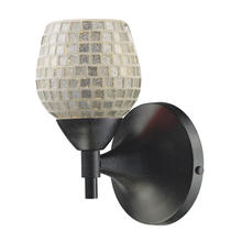 ELK Lighting 10150/1DR-SLV - Celina 1 Light Sconce In Dark Rust And Silver Gl
