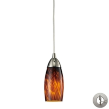ELK Lighting 110-1ES-LA - Milan 1 Light Pendant In Satin Nickel And Espres