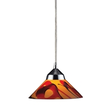 ELK Lighting 1477/1JAS - Refraction 1 Light Pendant In Polished Chrome An