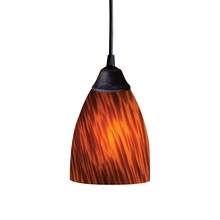 ELK Lighting 406-1ES - Classico 1 Light Pendant In Dark Rust And Espres