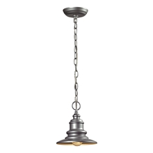 ELK Lighting 47021/1 - Marina 1 Light Outdoor Pendant In Matte Silver