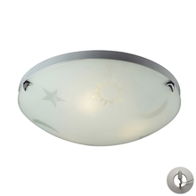 ELK Lighting 5088/3-LA - Novelty 3 Light Night Sky Flushmount In Satin Wh