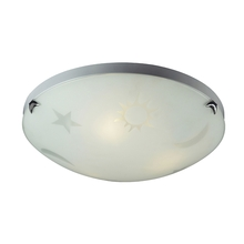 ELK Lighting 5088/3 - Novelty 3 Light Night Sky Flushmount In Satin Wh