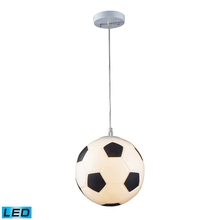 ELK Lighting 5123/1-LED - Novelty 1 Light LED Soccer Ball Pendant In Silve