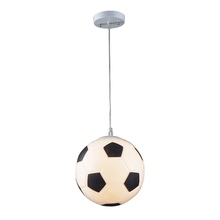 ELK Lighting 5123/1 - Novelty 1 Light Soccer Ball Pendant In Silver