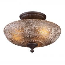 ELK Lighting 66191-3 - Norwich 3 Light Semi Flush In Oiled Bronze And A