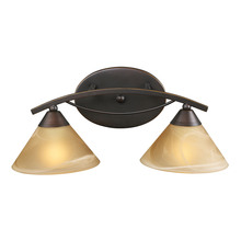 ELK Lighting 7641/2 - Elysburg 2 Light Vanity In Aged Bronze And Tea S